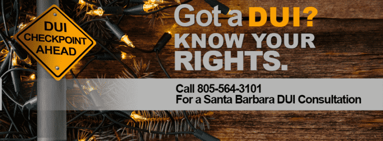 Holiday DUI Questions Answered by a Santa Barbara DUI Lawyer